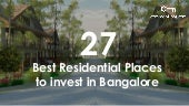 27 Best Pocket Friendly Residential Places That You Should Invest In Bangalore!