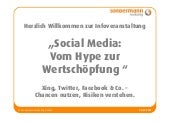 Social Media Workshop: Vom Hype zur...