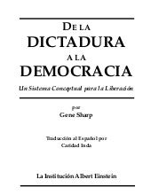 28.  sharp, gene - de la dictadura ...