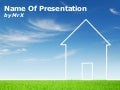 Environment House on Grass Free Powerpoint Template