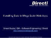 Handling Data in Mega Scale Web Sys...