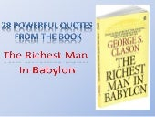 28 powerful quotes from the book, the richest man in babylon