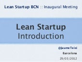Introduction to Lean Startup » Lean...