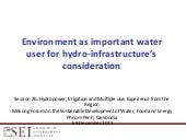 Environment as important water use ...