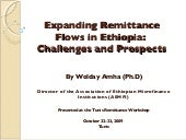Expanding Remittance Flows in Ethio...