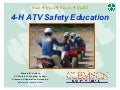 ATV Safety Summit: Tranining Innovations - 4-H ATV Safety Training (South Carolina)