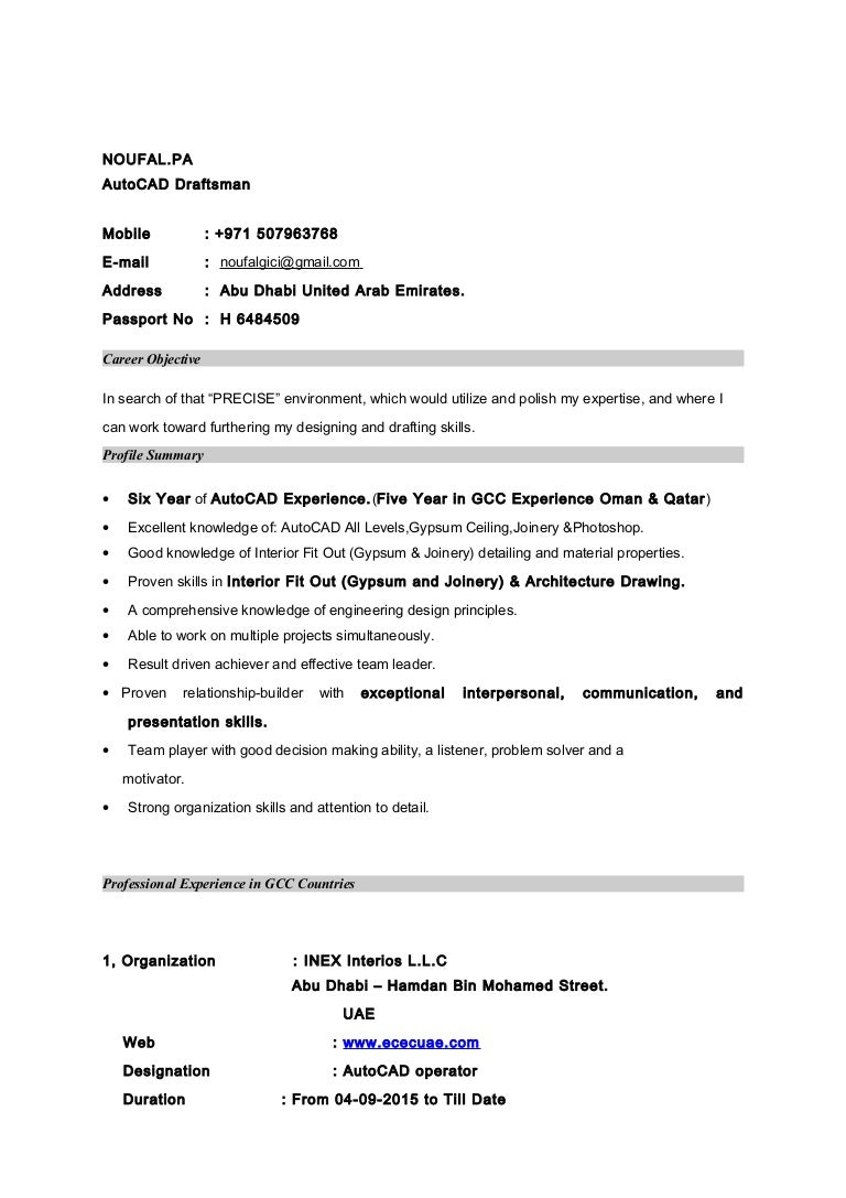 Cad Drafter Resume Sales Drafter Lewesmr