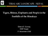 The Terai Arc Landscape Project: Rh...