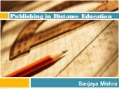 Publishing in Distance Education