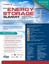 2nd Energy Storage Agenda