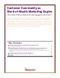 Customer Community as Word-of-Mouth Marketing Engine