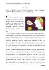 2nd language acquisition vs. pedagogy