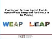 Planning and Decision Support Tools...