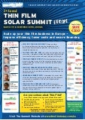 2nd Thin Film Solar Summit Europe- March 2010
