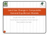 Land Use Change in Computable Gener...