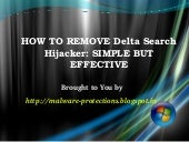 Uninstall Delta Search Hijacker : H...