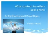 What content travellers seek online
