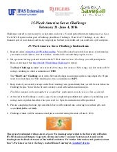 2016 America Saves Challenge Flyer