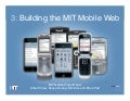 Developing the MIT Mobile Web