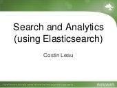 Search and Analytics (using Elasticsearch)