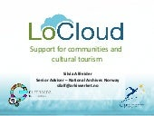 LoCloud Support for communities and cultural tourism