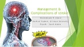 Management & Complications of Stroke