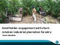 Smallholder engagement with short-rotation industrial plantation forestry