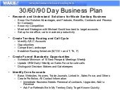 How to create a 30 60 90 day business plan