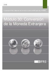 30. Conversion de la Moneda Extranjera