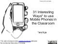 31 Interestin ways to use mobiles in class