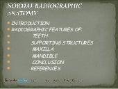 normal radiographic anatomy of oral cavity