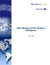 Data Management for Business Intell...