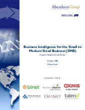 Business Intelligence for the Small...