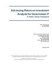 Advancing Return on Investment Anal...