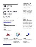 33 Sites Every Journalist Should Know - Handout