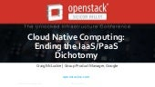 Containers: Ending the IaaS / PaaS Distinction