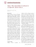 CGRP34 -- Trust: The Unwritten Contract in Corporate Governance
