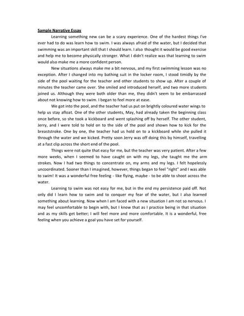 Narrative essay high school graduation