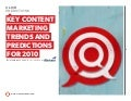 ClickPredictions Key Content Marketing Trends and Predictions for 2010 eBook