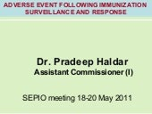 AEFI    p haldar presentation for s...