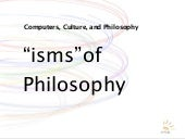 """Isms"" of Philosophy"