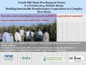 Towards a remote sensing based operational DSS for agricultural water and crop management in the Gash Delta - Sudan