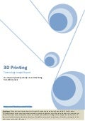 3D Printing Patent Search and Analysis Report