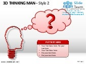 3d thinking man design 2 powerpoint...