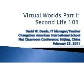 3D Virtual Worlds: Second Life: Int...