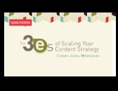 The 3 Es of Scaling Content Strategy
