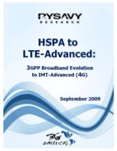 HSPA To LTE-Advanced: 3G Americas R...