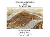 American Urbanization and New York ...