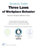 3 Laws of Workplace Behavior