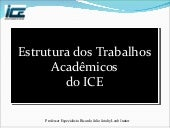 Estrutura do TCC e RCC - ICE